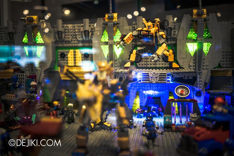 Universal Studios Singapore - Park Update July 2014 - Transformers Sci-Fi City KRE-O Diorama at Transformers Supply Vault 5
