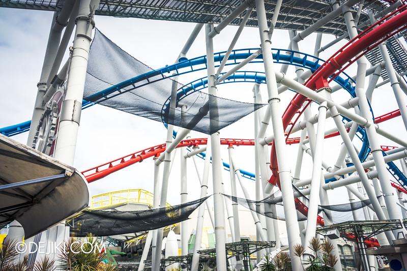 Universal Studios Singapore - Park Update February 2015 - Battlestar Galactica dueling roller coasters reopening - amazing nets