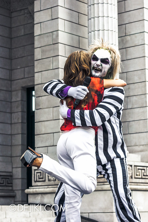 Universal Studios Singapore - Grand Opening 2011 - Paula Abdul and Beetlejuice 2