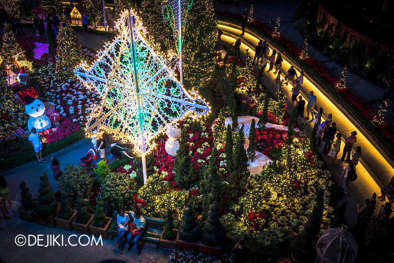 Gardens by the Bay - Yuletide in the Flower Dome at night - Lights 1