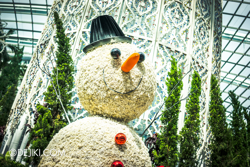 Gardens by the Bay - Yuletide in the Flower Dome - Snowman