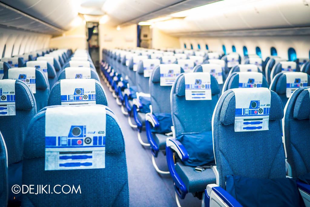 Star Wars at Changi - R2D2 ANA JET / Side angle shot of flight cabin
