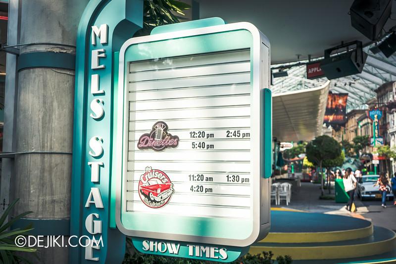 Universal Studios Singapore - Park Update October 2014 - Mel's Stage board returned