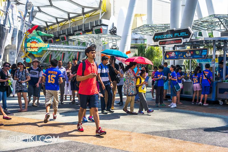Universal Studios Singapore - Park Update June 2015 - Battlestar Galactica dueling roller coaster / Sci-Fi City Buzz