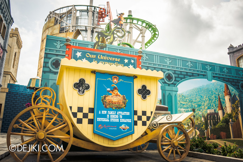 Universal Studios Singapore - Park Update November 2014 - Puss in Boots' Giant Journey new attraction rollercoaster news