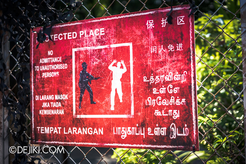Halloween Horror Nights 4 Singapore - Before Dark 4 - MATI CAMP / Protected Place Warning