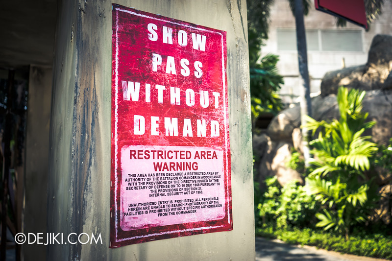 Halloween Horror Nights 4 Singapore - Before Dark 4 - MATI CAMP / Show Pass without Demand