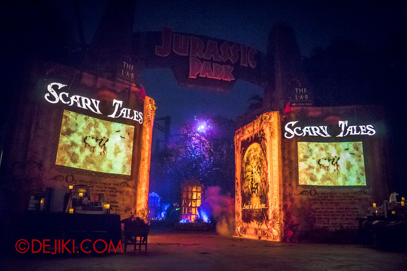 Halloween Horror Nights 4 - Scary Tales scare zone - First guest