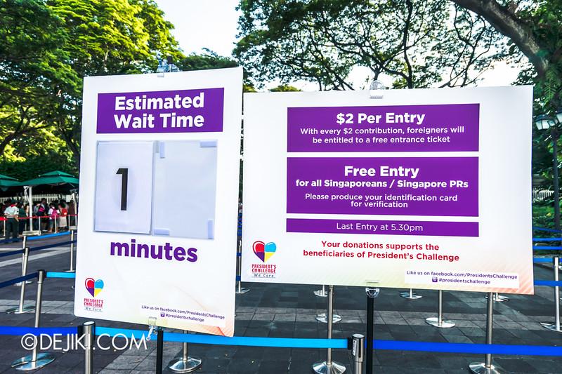 The Istana, Singapore - Entrance Wait time
