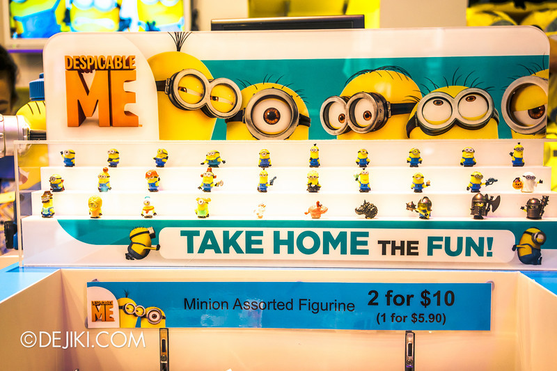 Universal Studios Singapore - Park Update June 2014 - USS Minion Mart / Battle Pods Despicable Me Minions: All Minions miniatures
