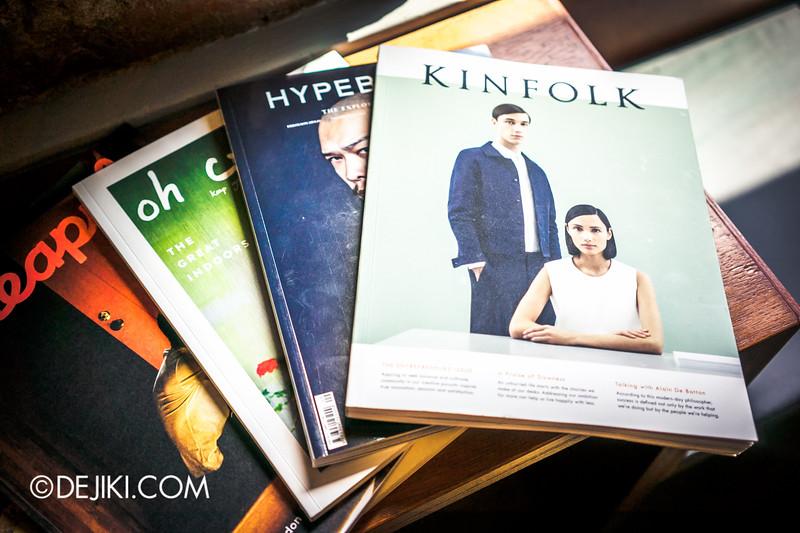 Paddy Hills cafe - magazines