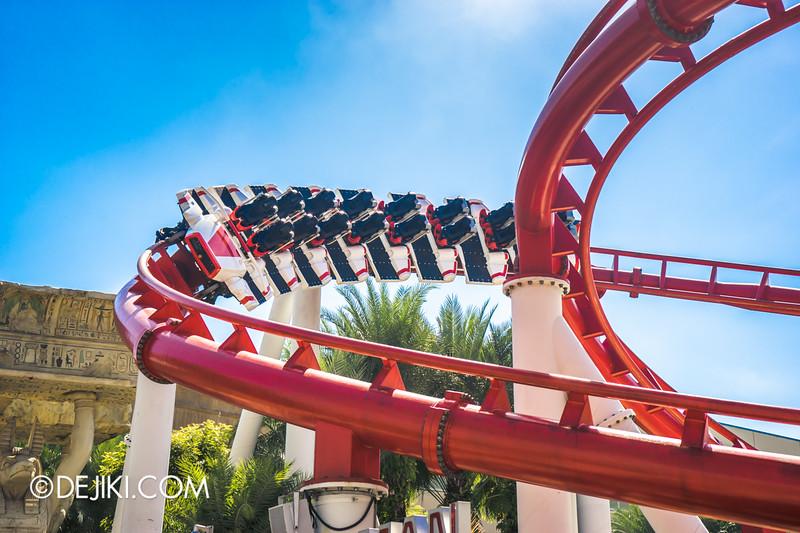 Universal Studios Singapore - Park Update January 2015 - Battlestar Galactica roller-coaster recovery update 2