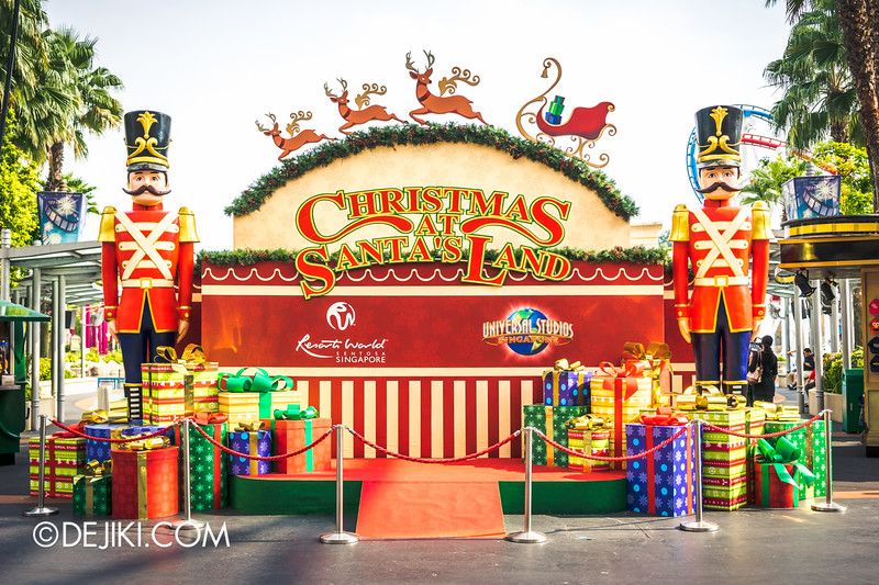 Universal Studios Singapore - Park Update December 2014 - Christmas at Santa's Land 2 / Christmas at Santa's Land - Toy Soldiers and Presents