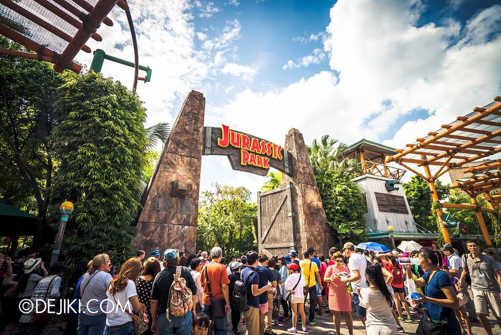 Universal Studios Singapore - Park Update March 2016 / Jurassic Park Epic