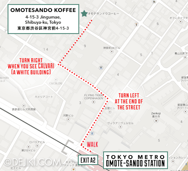 The Map to Omotesando Koffee