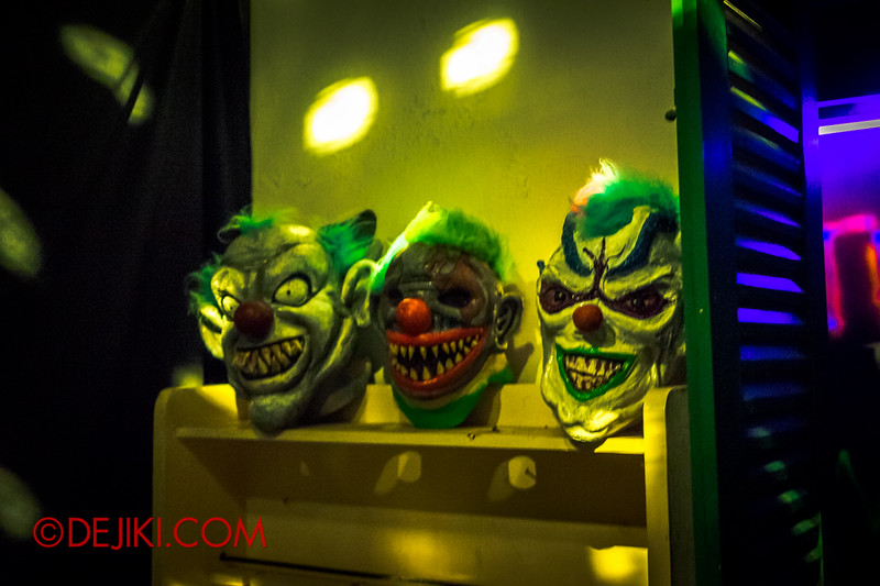 Sentosa Spooktacular 2014 - COUNTDOWN Haunted House / the club - demon masks