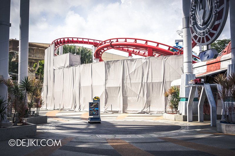 Universal Studios Singapore - Park Update June 2014 - Battlestar Galactica Rollercoaster Repair Works 2