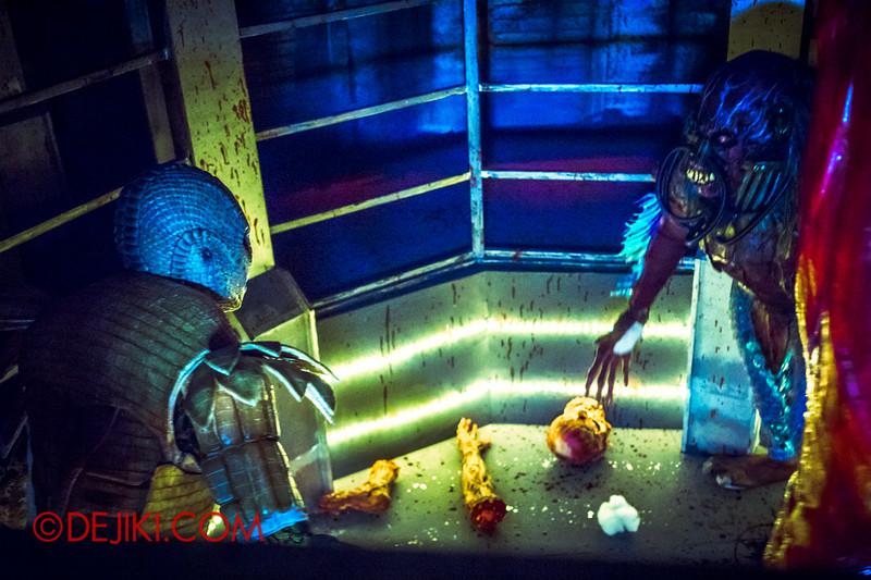 Halloween Horror Nights 4 - The L.A.B Laboratory of Alien Breeding - The brawl 2