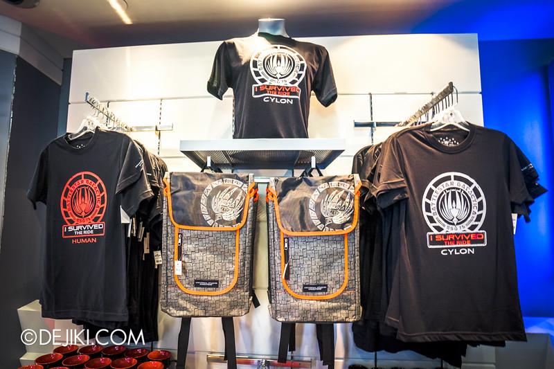 Universal Studios Singapore - Park Update June 2015 - Battlestar Galactica dueling roller coaster / Galactica PX Retail Store / T-Shirts 2