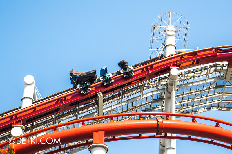 Universal Studios Singapore - Park Update October 2014 - Battlestar Galactica BSG roller coaster 4