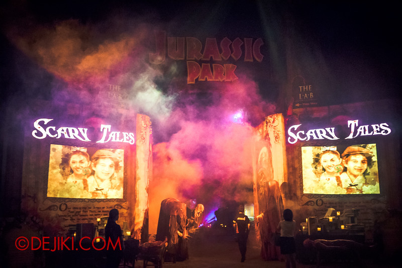 Halloween Horror Nights 4 - Sneak Preview - SCARY TALES Scare zone
