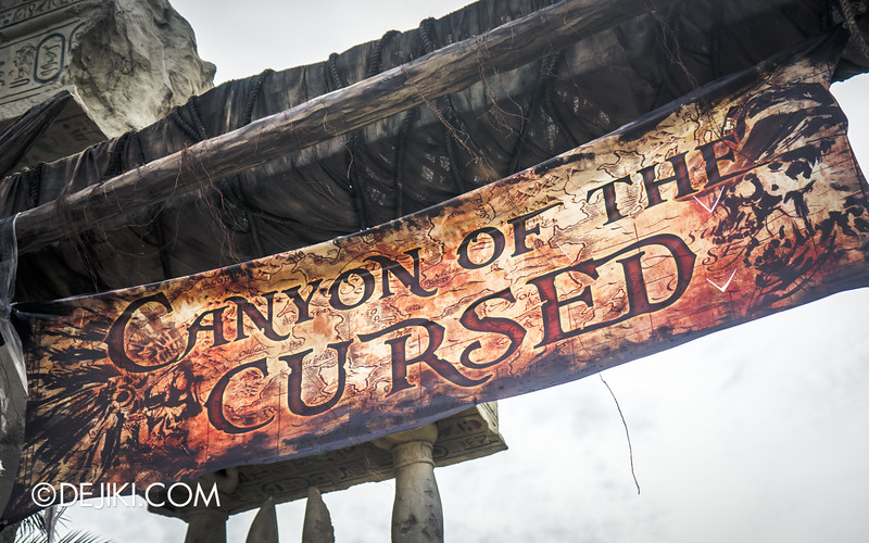 Halloween Horror Nights 4 Singapore - Before Dark 2 - Canyon of the Cursed 2 - banner detail