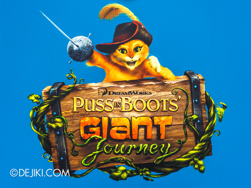 Universal Studios Singapore - Park Update November 2014 - Puss in Boots' Giant Journey new attraction logo