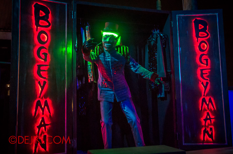 Halloween Horror Nights 4 - Bogeyman scare zone - The real Bogeyman