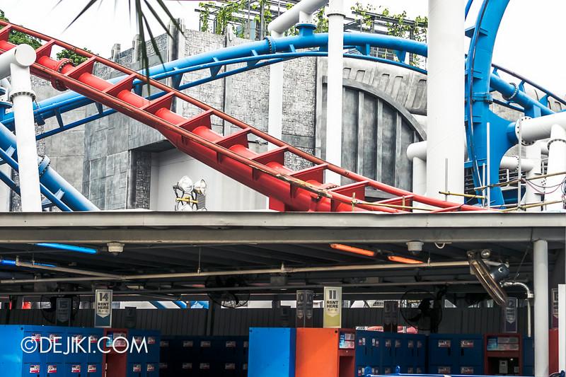 Universal Studios Singapore - Park Update July 2014 - BSG Battlestar Galactica roller coaster repair works 4
