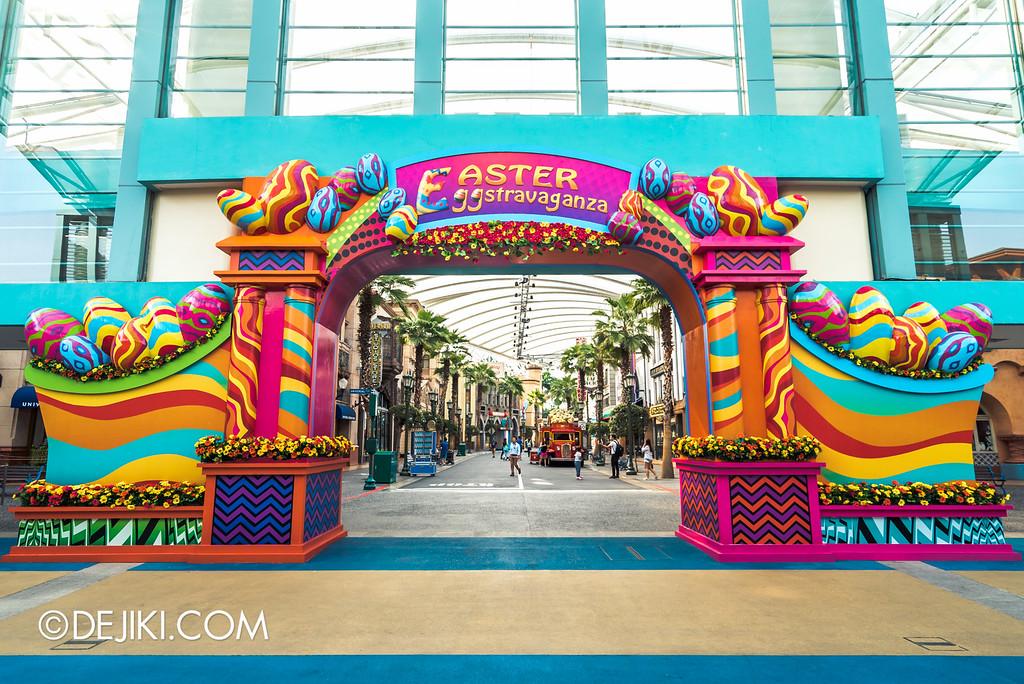 Universal Studios Singapore - Easter Eggstravaganza 2016 Event - Park Arch