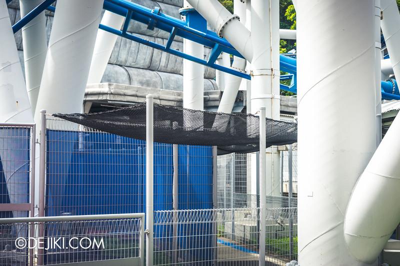 Universal Studios Singapore - Park Update February 2015 - Battlestar Galactica dueling roller coasters reopening - amazing nets 5