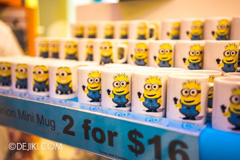Universal Studios Singapore - Park Update June 2014 - USS Minion Mart / Minion Mini Mugs