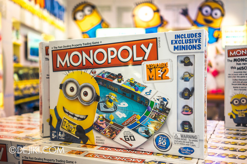 Universal Studios Singapore - Park Update June 2014 - USS Minion Mart / Despicable Me Monopoly Board Game 1