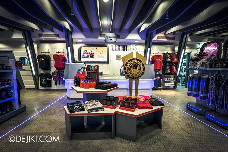 Universal Studios Singapore - Park Update June 2015 - Battlestar Galactica dueling roller coaster / Galactica PX Retail Store