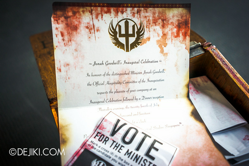 Universal Studios Singapore - Halloween Horror Nights 4 - Cryptic Voting Box Media Invite Package 6