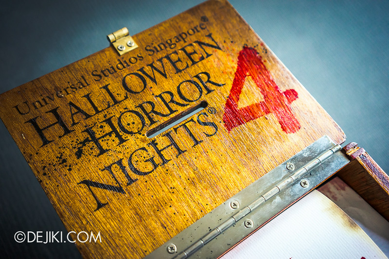 Universal Studios Singapore - Halloween Horror Nights 4 - Cryptic Voting Box Media Invite Package 5