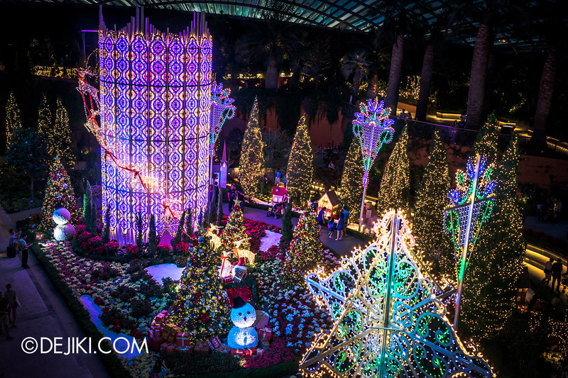 Gardens by the Bay - Yuletide in the Flower Dome at night - Grand Bird's Eye View