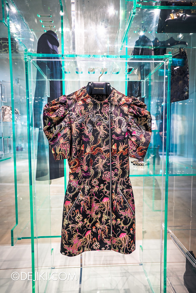 Louis Vuitton Series 3 Exhibition - Walk In Wardrobe / AW2015 Embroidery Jellyfish Dress