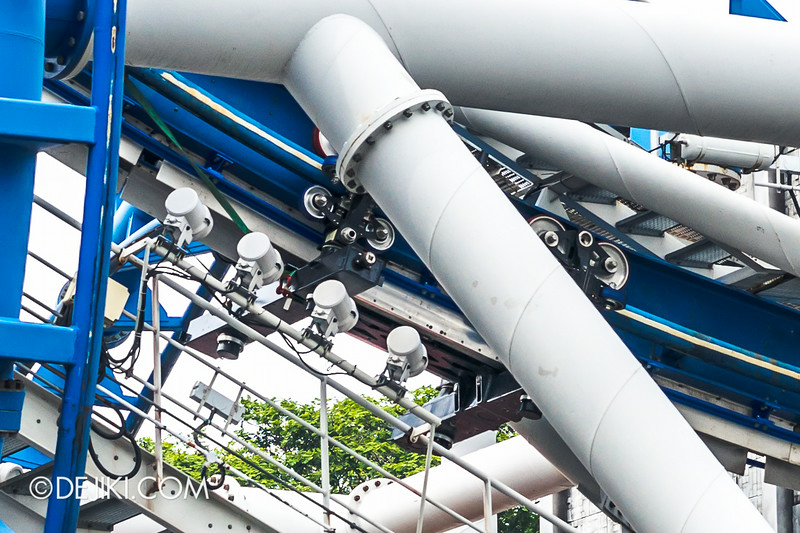 Universal Studios Singapore - Park Update August 2014 - Battlestar Galactica repair update 6
