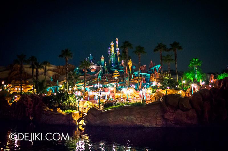 Mermaid Lagoon - Castle at night