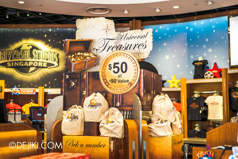 Universal Studios Singapore - Park Update November 2015 / Universal Treasures Lucky Bags for $50