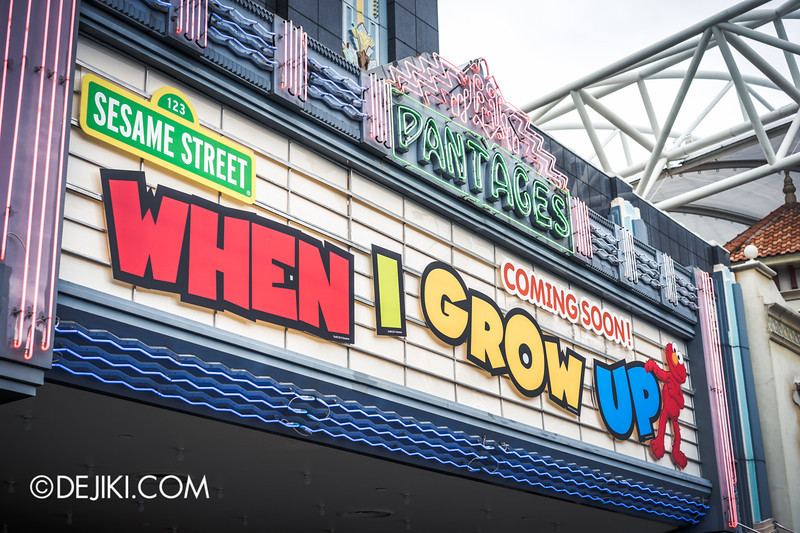 Universal Studios Singapore - Park Update September 2014 - Sesame Street WHEN I GROW UP at Pantages Hollywood Theater
