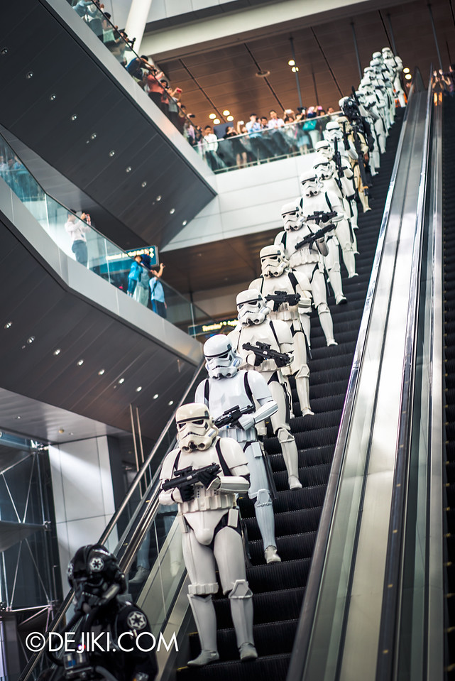 Star Wars at Changi Airport - Stormtroopers March, on Escalators