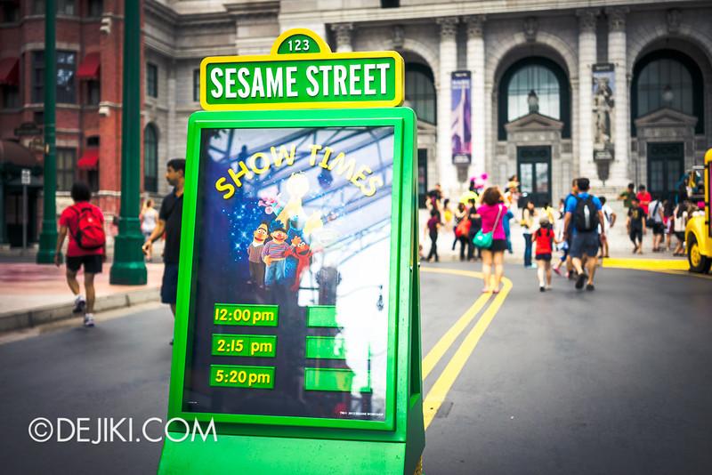 Universal Studios Singapore - Sesame Street Show Times