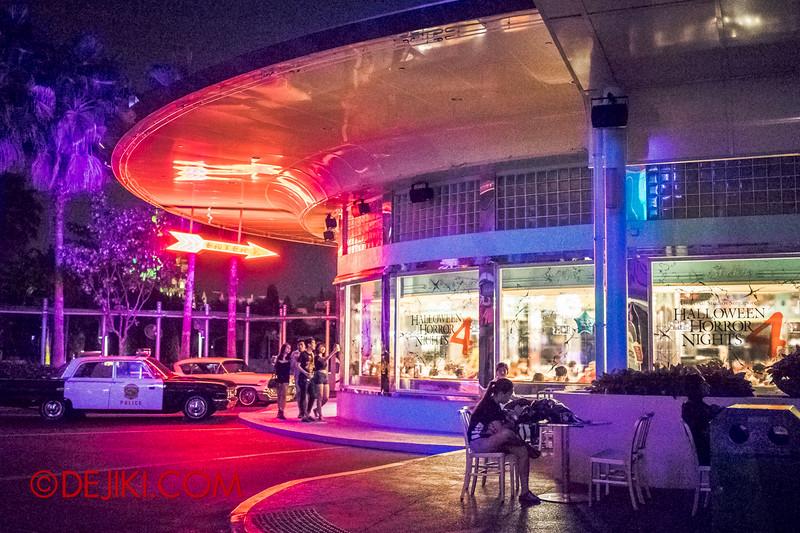 Universal Studios Singapore - Park Update October 2014 - Halloween Horror Nights 4 - Mel's Drive-In at Night