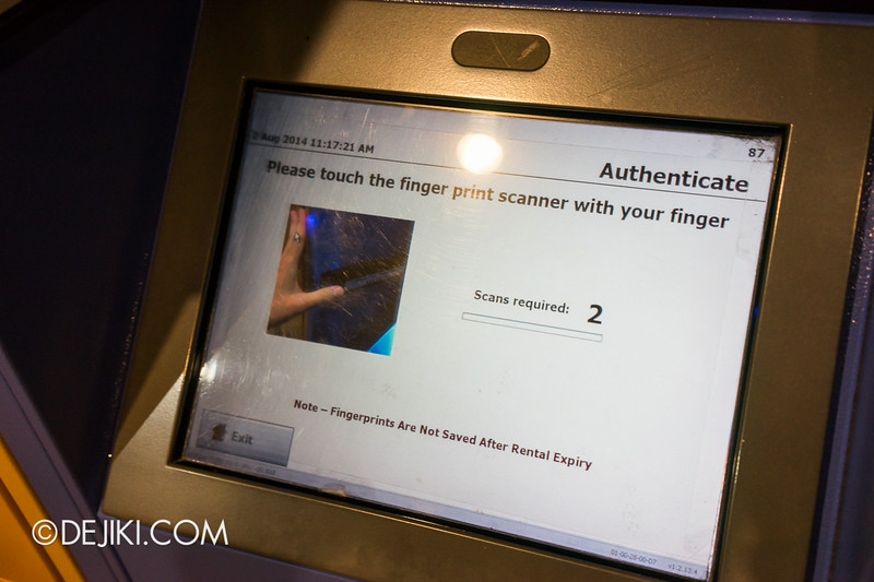 Universal Studios Singapore - Park Update August 2014 - New Biometric Lockers with fingerprint scanners 2
