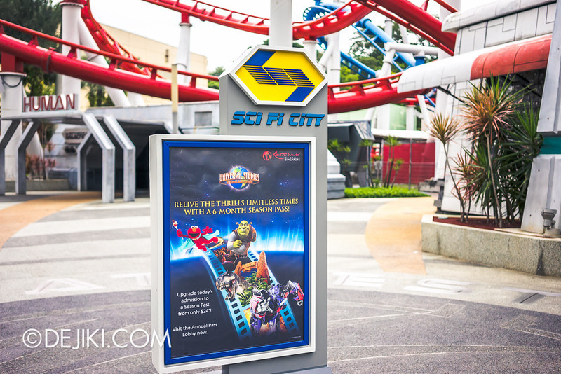 Universal Studios Singapore - Sci-Fi City Poster Stand