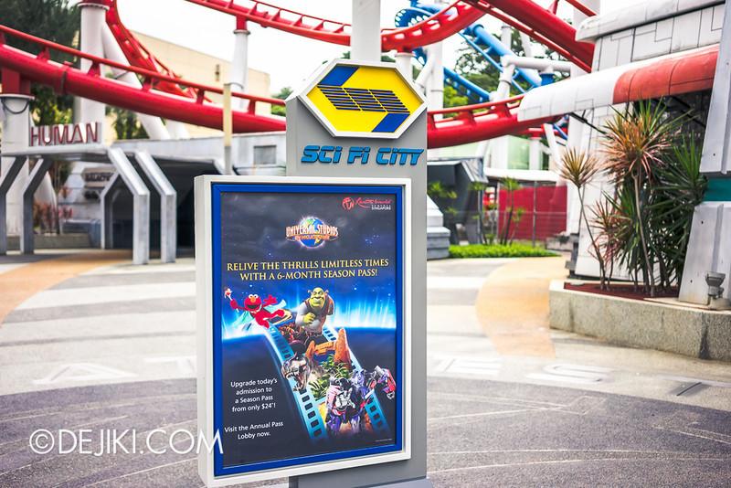 Universal Studios Singapore - Sci-Fi City Poster Stand